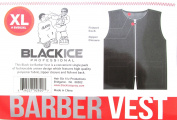 Black Ice Barber Vest Size Black X-Large, Professional, barber cape, barber, salon, polyester, fabric, polyester fabric, high quality, fish net, convenient, haircut, hair cutting, hair salon, stylist, hair stylist , hair styling cape