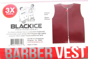 Black Ice Barber Vest Size Burgundy 3X-Large, Professional, barber cape, barber, salon, polyester, fabric, polyester fabric, high quality, fish net, convenient, haircut, hair cutting, hair salon, stylist, hair stylist , hair styling cape
