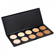 10 Colours Warm Matte Eyeshadow Palette Concealer Foundation Cosmetic Makeup Kit