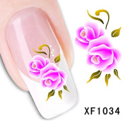 Dalin 3D Nail Art Tips Stickers False Flower Nail Design Manicure Decals Nail Art Water Nail Art Decal / Tattoo / Sticker XF1034