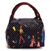 Women Cute Printing Nylon Cosmetic Toiletry Travel Outdoor Storage Bag Handbag