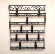 Pana Brand Nail Polish Wall Rack (Fit Up To 60 Bottles of Nail Polish) (Metal Frame, Unbreakable) (BLACK) *Register under Pana*