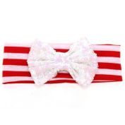 Susenstone® Christmas Shining Bowknot Headwear, Babys Hair Band