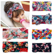 Hip Mall®6pcs Fashion Headbands for Girls Flowers Bows Hair Bands