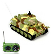 Lookatool® New Mini 1:72 49MHz R/C Radio Remote Control Tiger Tank 20M Kids Toy Gift