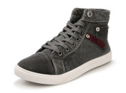 Tasny Casual Shoes High Top Fashion Grey