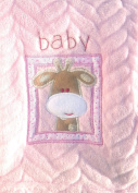 Snugly Baby Embroidered Giraffe Ultra Soft Blanket ~ Pink