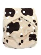BB2 One Size Minky Bamboo Pocket Snaps Cloth Nappy/ Nappy + 2 Inserts