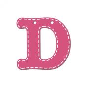 CoCaLo Mix & Match Pink Hanging Letter, D