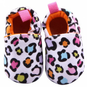 Aivtalk Baby Knitted Cartoon Shoes Leopard Style Soft Crib Shoes Soft Sole Toddler Kids Shoes Size 11 - White
