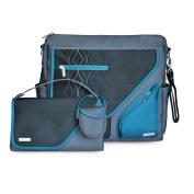 JJ Cole Metra Nappy Bag, Blue Diamond