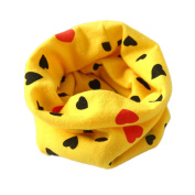 FEITONG Fashion Autumn Winter Boys Girls Collar Kids Baby Heart Scarf Cotton O Ring Neck Scarves