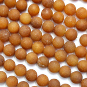 Natural Colour High Quality Genuine Unpolished Matte Yellow Jade Round Real Gemstones Loose Beads for Jewerly Bracelet Making