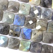 Faceted Natural Colour Genuine Labradorite Square Real Gemstones Loose Beads for Jewerly Bracelet Making
