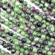 Natural Colour Green Ruby in Zoite Round Real Gemstones Loose Beads for Jewerly Bracelet Making
