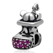 Hoobeads Jewellery Hoobeads Christmas Gift Santa Claus 925 Sterling Silver Beads Charm Fits Pandora Bracelets