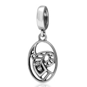 Amusement Park Roller Coaster Charm 925 Sterling Silver Dangle Bead for Children Gifts