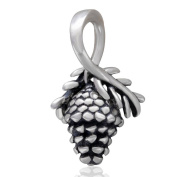 Pine Cone Dangle 925 Sterling Silver Charm for European Brand Bracelet Jewellery Compatible