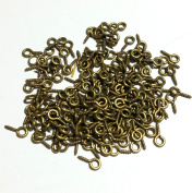 CHENGYIDA 800-PACK Bronze Colour Screw Eyes Pin Findings for Clay Jewellery, Resin, Bead