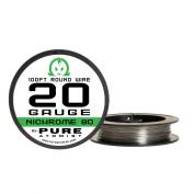 30m - Nichrome 80 20 Gauge AWG Round Wire Roll - 0.81mm 20g 30m Spool N80