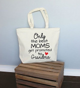 Only the Best Moms get Promoted to Grandma XL Tote in Natural Colour