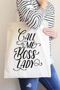 Call Me Boss Lady Tote Bag in Natural Colour
