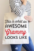 This Is What An Awesome Grammy Looks Like Tote Bag in Natural Colour