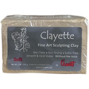 Chavant CLAYETTE Soft - 0.9kg. Professional Oil Based Sulphur Free Sculpting Clay - GREEN