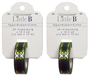 Little B (2 Rolls) Green Gold Flourish Foil Washi Tape each .150cm x 10.3 Yards 100768 - Bundle of 2