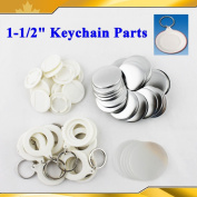 "Asc365 Keychain 37mm 1-1/2"" Supplies 100sets for Pro Maker Machine Commerciadiy"