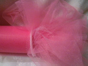 *SHOCKING PINK TULLE* - 15cm WIDE - 25 YARD ROLL - GREAT FOR BRIDAL, BOWS, CRAFTS, & SEWING!