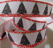 Grosgrain Ribbon - *Christmas Tree Print*- 2.2cm Wide - 5 Yards - Hair Bows & Crafts