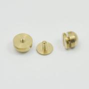 20 PCS Brass Screwback Feet Size 10mm 12mm Screw Round Head Purse Handbag NAILHEADS Stud Spike Spot