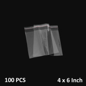 The Elixir Packaging 100 Pcs 4x6 Crystal Clear Resealable Reclosable Cello / Cellophane Bags, 3 Mil