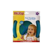 Nuby 2 Pack Embossed Section Plate, Blue/Green