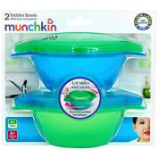 Munchkin Click Lock Toddler Bowl 2 Pack - Blue/Green