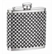 FJX Wholesale HFL-SP069 180ml White and Black Diamond Flask
