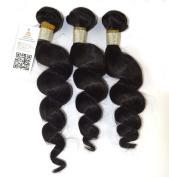 Queen Rose 3 Bundles Human Hair Loose Wave Peruvian Virgin Remyir Weave Weft 3 Bundles 300 Grammes Unprocessed Natural Colour Extensions 100% Peruvian Human Hair Extensions