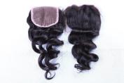 Freyja Hair Brazilian Virgin Human Hair Closure With Baby Hair Hair Loose Deep Wave Top Lace Closure Part 20cm - 50cm Naturl Black Bleached Knots