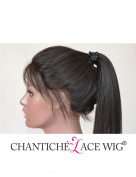 Chantiche 6A Light Yaki Glueless Full Lace Wig Affordable Brazilian Human Hair Wigs For African American Women 130% Density 60cm Natural Colour Medium Size Cap Light Brown Lace Colour