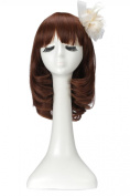 LOUISE MAELYS Lovely Short Curly Wig Cosplay Party Wavy Full Wig Hair Replacement