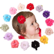 Qandsweet Baby Girl's Hairclips Kid Chiffon Hair Bows Hairpins Boutique