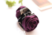 Korean Beauty Ribbon Rose Flower Bow Jaw Clip Hair Claws for Women Headwear Hair Accessories
