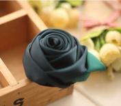 Korean Hot Sale Multicolor Mercery Rose Flower Hair Ring/hair Band/hair Circle for Girl/women Hair Accessories Hair Rope