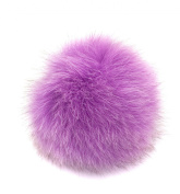 Real Genuine Fox Fur Pom Pom Ponytail Holder Hair Accessory Fascinator