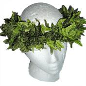 HAWAIIAN HEAD LEI HAKU - Green Fern or White Plumeria