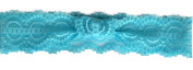 Lace Stretch Elastic Headband; Size Fits Child Through Adult; One Headband, choose between White, Black, Brown, Pink, Blue, Peach, Grey, Purple, Red or Green (Aqua Blue Lagoon) Back to School Sale