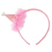 Glitter Cone Hat Headband - Pink