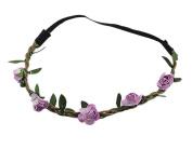 BONAMART ® Boho Hippie Flower Elastic Headband Festival Knotted Chain HairBand for Women Girls 24901