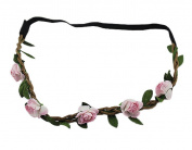 BONAMART ® Boho Hippie Flower Elastic Headband Festival Braided Chain HairBand for Women Girls 24895